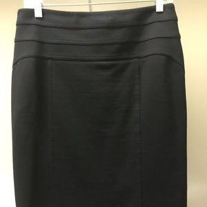 Inc black classic a line skirt with back slit